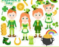 Bees clipart st patrick's day