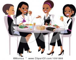 Women clipart lunch