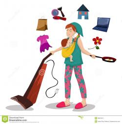 Mommy clipart working mother