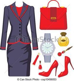 Women clipart suit