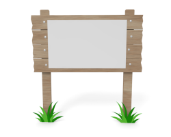 Advertisement clipart notice board