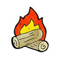 Burn clipart log fire