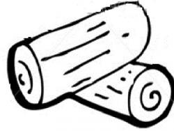 Timber clipart black and white
