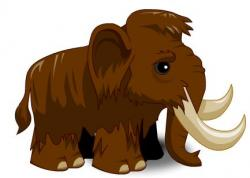 Mammoth clipart cute