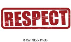 Word clipart respect