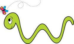 Inchworm clipart cartoon
