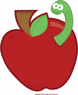 Worm clipart apple worm