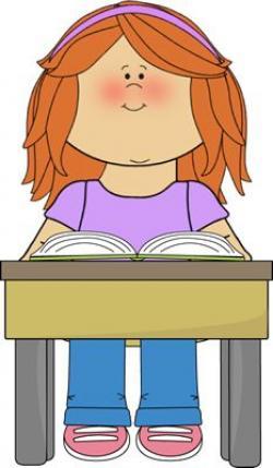 Desk clipart elementary student