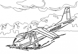 Destruction clipart plane crash