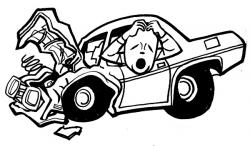 Wreck clipart crashed car