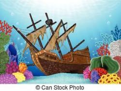 Wreck clipart underwate shipwreck