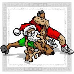 Wrestler clipart santa
