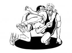 Wrestler clipart vector