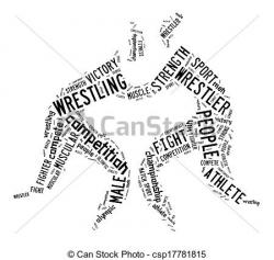 Wrestler clipart victory