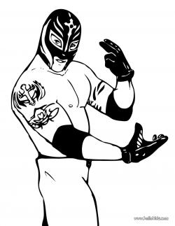 WWE clipart coloring page