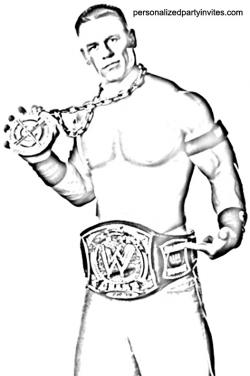 WWE clipart colouring page