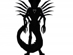 Xenomorph clipart black and white