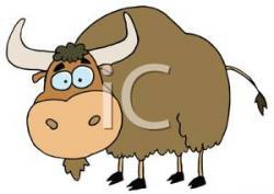 Cute clipart yak