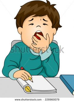 Yawn clipart tired