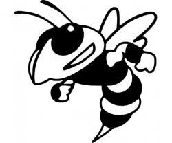 Hornet clipart black and white