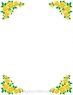 Yellow Rose clipart boarder