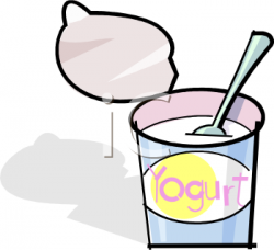Yogurt clipart cartoon