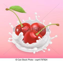 Yogurt clipart cherry