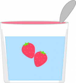 Yogurt clipart strawberry yogurt