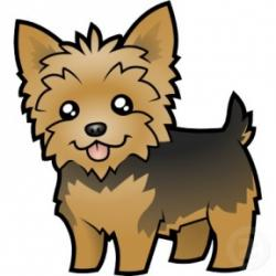 Yorkies clipart cute