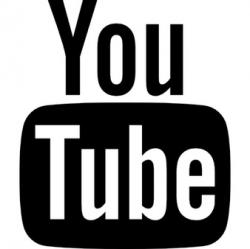 Youtube clipart black and white