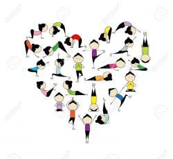 Zen clipart yoga poses