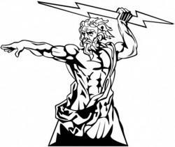 Zeus clipart coloring page