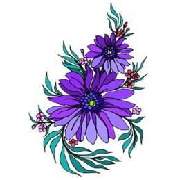 Zinnea clipart flower cluster