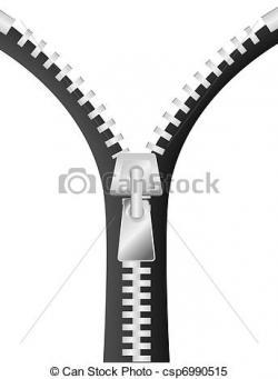Zipper clipart opened