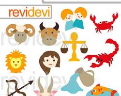 Zodiac Sign clipart cute