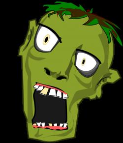 Apocalyptic clipart zombie head