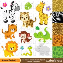 Cheetah clipart zoo animal