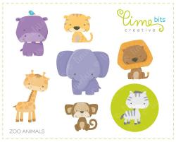 Cute clipart zoo animal
