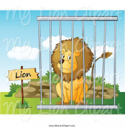 Zoo clipart lion cage