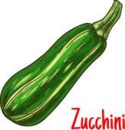 Zucchini clipart yellow green